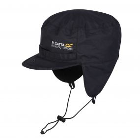 Regatta Men's Padded Igniter Waterproof Trapper Hat Black