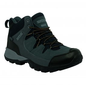 Regatta Men's Holcombe Mid Walking Boots Seal Grey Inca Gold