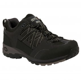 Regatta Men's Samaris Low Hiking Shoes Black Granite