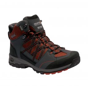 Regatta Men's Samaris Mid Hiking Boots Orange Briar