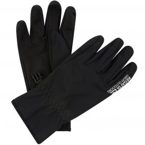 Regatta Men's Stretch Softshell Gloves Black