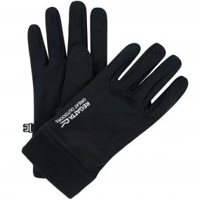 Regatta Men's Extol Stretch Gloves with Fleece Cuffs Gloves Black