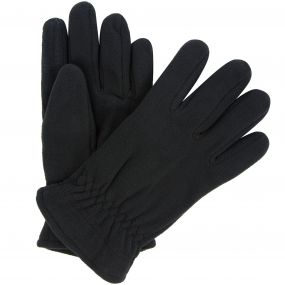 Regatta Men's Kingsdale Thermal Microfleece Gloves Black