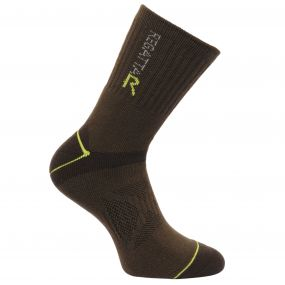 Men's Two Layer Blister Protection Socks Clove Oasis Green