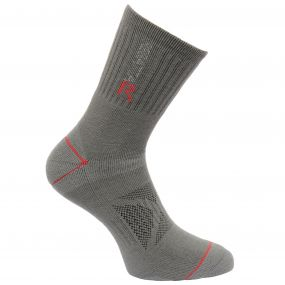Regatta Men's Two Layer Blister Protection Socks Granite Senator Red