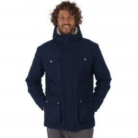 Regatta Penley Waterproof Insulated Parka Jacket Navy