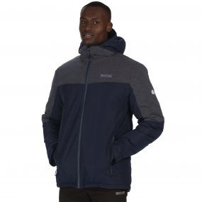 Regatta Garforth Breathable Waterproof Insulated Jacket Navy Seal Grey Reflective