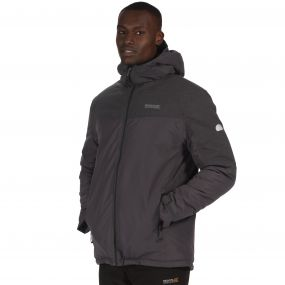 Regatta Garforth Breathable Waterproof Insulated Jacket Seal Grey Reflective