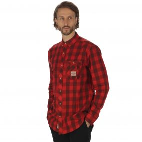 Regatta Loman Long Sleeved Checked Shirt Tuscan Red