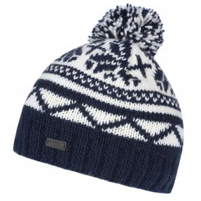 Regatta Sleet II Fair Isle Knit Bobble Hat Navy
