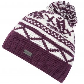 Regatta Sleet II Fair Isle Knit Bobble Hat Fig