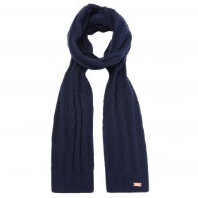 Regatta Multimix Cable Knit Scarf Navy