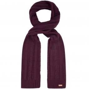 Multimix Cable Knit Scarf Fig