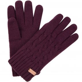 Regatta Multimix Fleece Lined Cable Knit Gloves Fig