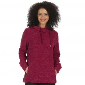 Regatta Kizmit II Marl Fleece Oversized Hood Fig Rose Blush