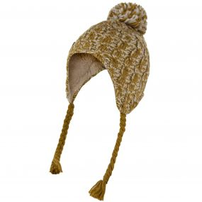 Regatta Women's Whirlwind Cable Knit Trapper Hat Gold Cumin