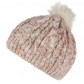 Regatta Women's Frosty Knitted Bobble Hat Light Vanilla