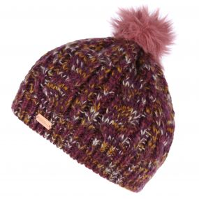 Regatta Women's Frosty Knitted Bobble Hat Fig