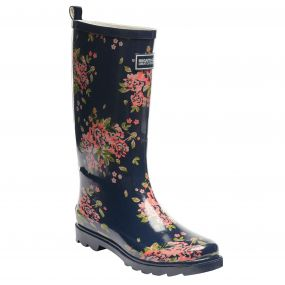 Regatta Women's Fairweather Wellington Boots Navy Blazer Floral
