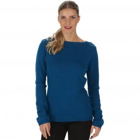 Regatta Kalindi Cotton Knit Sweater Majolica Blue Marl