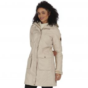 Regatta Roanstar II Breathable Waterproof Insulated Parka Jacket Warm Beige