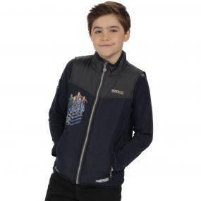 Thunderbirds Are Go Kids Earthbreaker Gilet Lightweight Insulated Navy Seal Grey