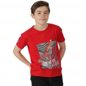 Thunderbirds Are Go Kids Heatshield Graphic Print Cotton T-Shirt Pepper Red