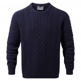Aron Knit Jumper Dark Navy