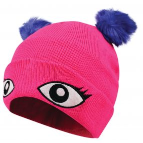 Dare2b Kids Watch Out Beanie Hat Cyber Pink