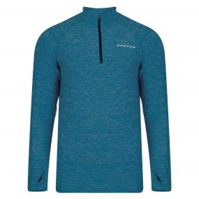 Dare2b Men's Trivial Half Zip Multisport Jersey Titan Blue