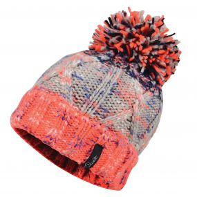Dare2b Women's Concerted Beanie Hat Fiery Coral/Silva Flash