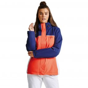 Dare2b Women's Ingress Ski Jacket Fiery Coral/Admiral