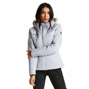 Dare2b Women's Ornate Luxe Ski Jacket Silver Flash