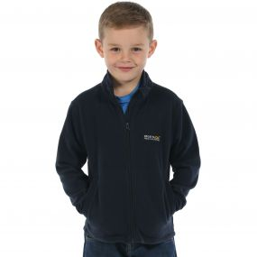Regatta Kids King II Lightweight Full Zip Fleece Navy