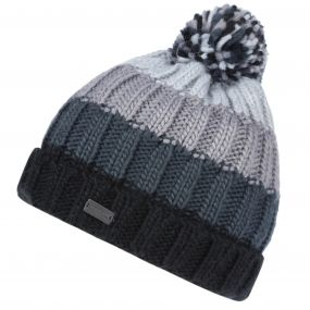 Regatta Men's Daved II Chunky Knit Fleece Lined Bobble Hat Black