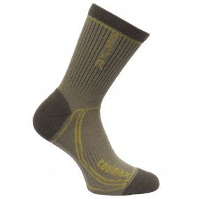 Regatta Men's 2 Season Coolmax Trek & Trail Socks Olive Dark Spring