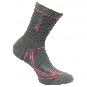 Regatta Women's 2 Season Coolmax Trek & Trail Socks Iron Coral