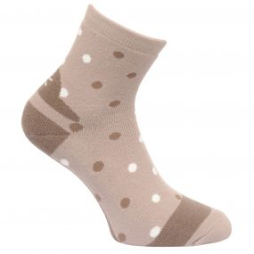 Regatta Women's 3 Pack Lifestyle Polka Dot Socks Barley-Black-Plum Wine