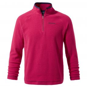 Discovery Adventures Half Zip Fleece Dark Electric Pink