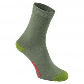 NosiLife Kids Single Travel Sock Dark Khaki