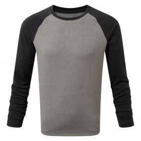Craghoppers NosiLife Barnaby Long Sleeved Tee Soft Grey Marl