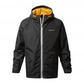 Craghoppers Discovery Adventures Waterproof Jacket Black Quarry Grey