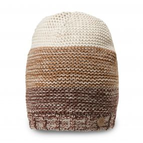 Craghoppers Rogan Knit Hat Burnt Umbra Marl