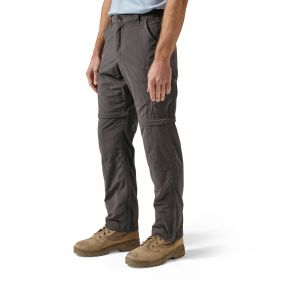 Craghoppers NosiLife Convertible Trousers Black Pepper