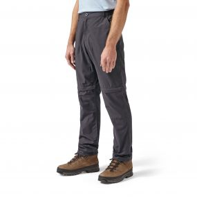 Craghoppers C65 Convertible Trousers Black Pepper