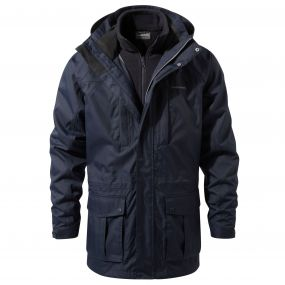 Craghoppers Kiwi Long 3-in-1 Jacket Blue Navy / Dark Navy