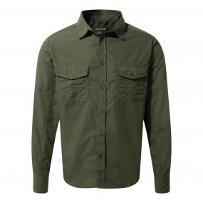 Craghoppers Kiwi Long Sleeved Shirt Cedar