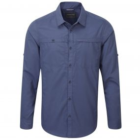 Craghoppers Kiwi Trek Long Sleeved Shirt Dusk Blue
