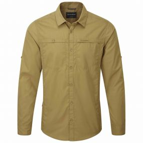 Craghoppers Kiwi Trek Long Sleeved Shirt Light Olive
