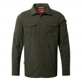 NosiLife Adventure Long Sleeved Shirt Dark Khaki